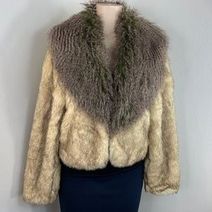 Kaity Coat Womens Faux Fur Jacket